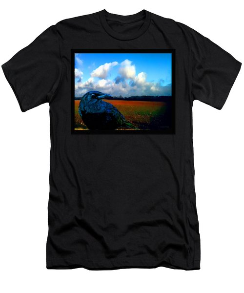 Big Daddy Crow Series Silent Watcher Men's T-Shirt (Slim Fit) by Lesa Fine