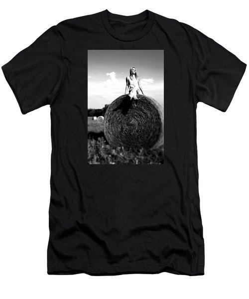 Big Dreams Bw Men's T-Shirt (Slim Fit) by Elizabeth Sullivan