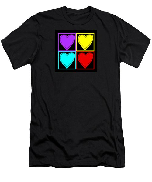 Big Hearts I Men's T-Shirt (Slim Fit) by Marianne Campolongo