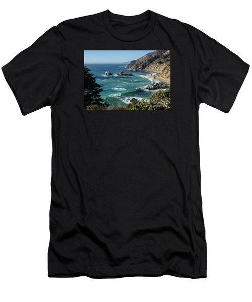 Big Sur Coast From Julia Pfeiffer Burns Men's T-Shirt (Slim Fit) by Suzanne Luft
