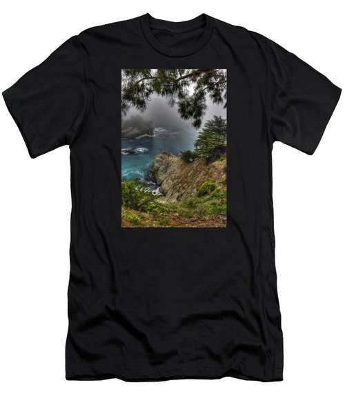 Big Sur Julia Pfeiffer State Park-1 Central California Coast Spring Early Afternoon Men's T-Shirt (Athletic Fit)