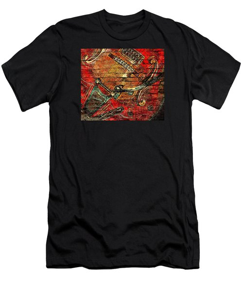 Bigsby Faux Mural Men's T-Shirt (Slim Fit) by Chris Berry