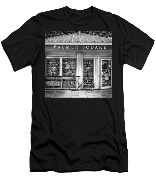 Bike At Palmer Square Book Store In Princeton Men's T-Shirt (Athletic Fit)