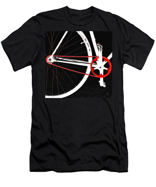 Bike In Black White And Red No 2 Men's T-Shirt (Athletic Fit)