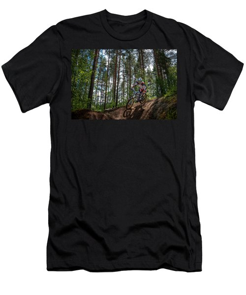 Biker On Trail Men's T-Shirt (Athletic Fit)