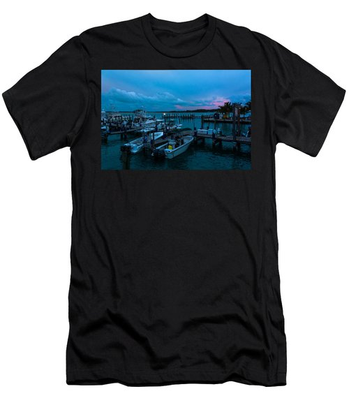 Bimini Big Game Club Docks After Sundown Men's T-Shirt (Athletic Fit)