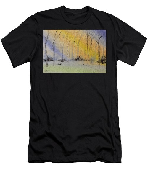 Birch In Blue Men's T-Shirt (Athletic Fit)