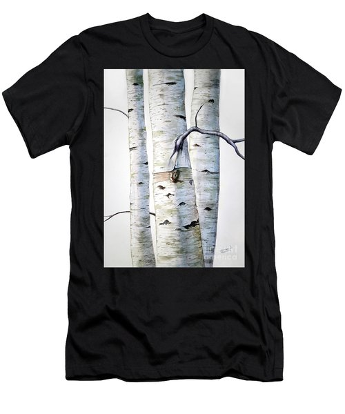 Birch Trees In Watercolor Men's T-Shirt (Athletic Fit)