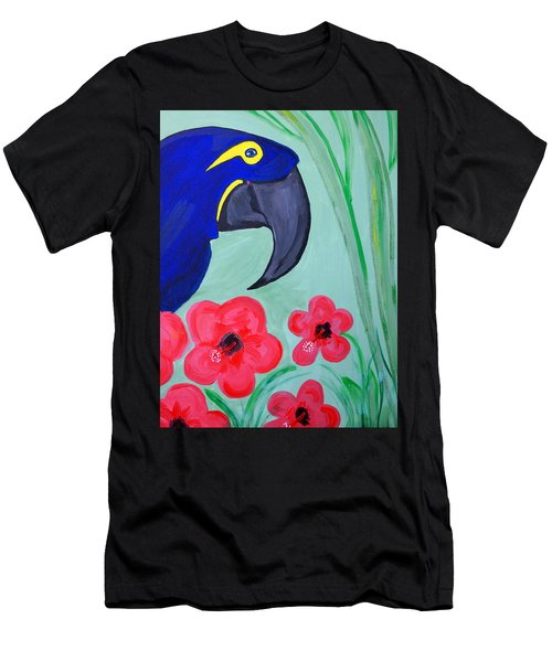 Men's T-Shirt (Slim Fit) featuring the painting Bird In Paradise   by Nora Shepley