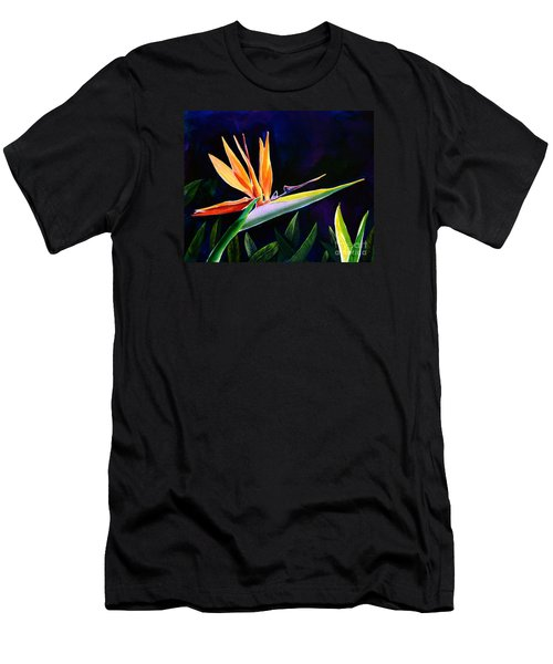 Men's T-Shirt (Slim Fit) featuring the painting Bird Of Paradise by AnnaJo Vahle