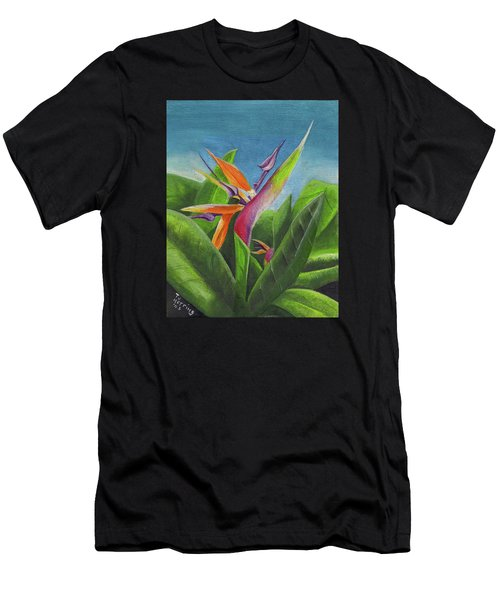 Hawaiian Bird Of Paradise Men's T-Shirt (Athletic Fit)