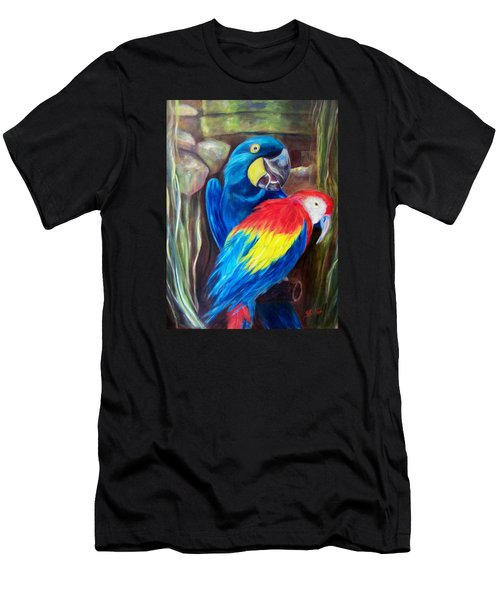 Bird's Of A Feather, Macaws Men's T-Shirt (Athletic Fit)