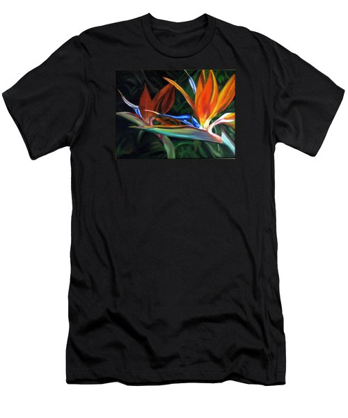 Men's T-Shirt (Slim Fit) featuring the painting Birds Of Paradise by LaVonne Hand