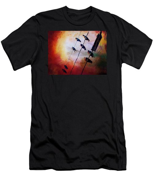 Birds On A Wire Men's T-Shirt (Athletic Fit)