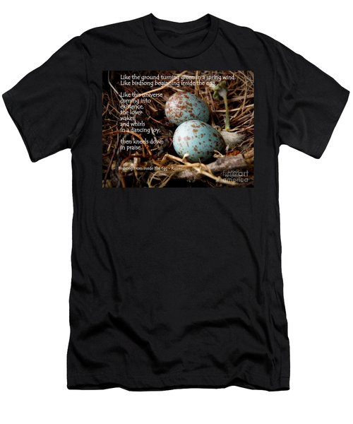 Birdsong From Inside The Egg Men's T-Shirt (Athletic Fit)