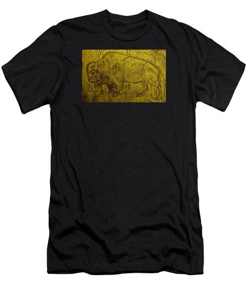 Golden  Buffalo Men's T-Shirt (Slim Fit) by Larry Campbell
