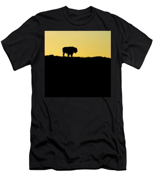 Men's T-Shirt (Slim Fit) featuring the photograph Bison Sunrise by Sonya Lang