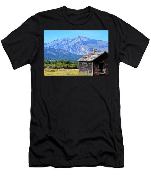 Men's T-Shirt (Slim Fit) featuring the photograph Bitterroot Valley Cabin by Joseph J Stevens