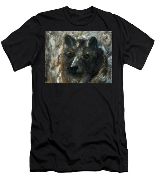 Men's T-Shirt (Slim Fit) featuring the painting Bjomolf - Bear Wolf by Barbie Batson