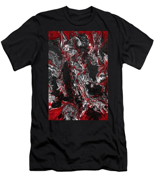 Black And White And Red All Over Men's T-Shirt (Athletic Fit)