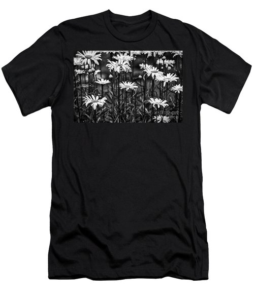 Black And White Daisies Men's T-Shirt (Athletic Fit)