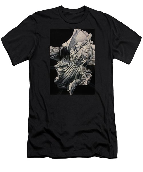 Black And White Iris Study Men's T-Shirt (Athletic Fit)