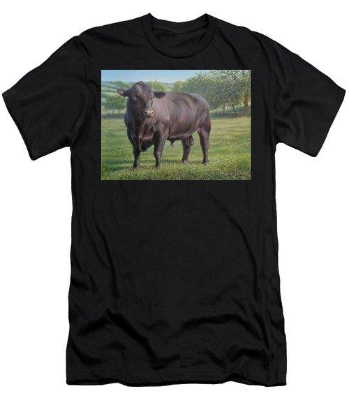 Black Angus Bull 2 Men's T-Shirt (Athletic Fit)