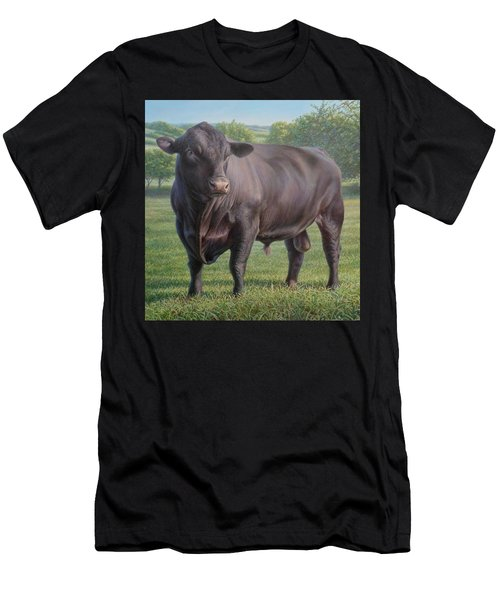 Black Angus Bull 2 Men's T-Shirt (Athletic Fit)