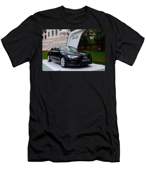 Black Audi A6 Classic Saloon Car Men's T-Shirt (Athletic Fit)