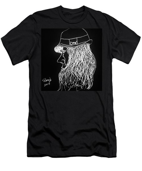 Men's T-Shirt (Slim Fit) featuring the painting Black Book 06 by Rand Swift