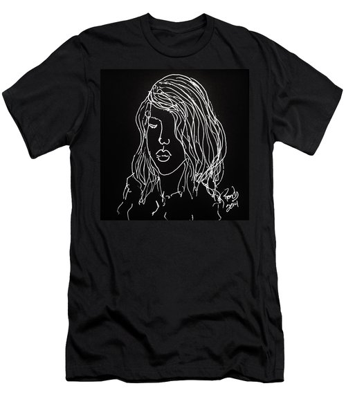 Men's T-Shirt (Slim Fit) featuring the drawing Black Book 07 by Rand Swift
