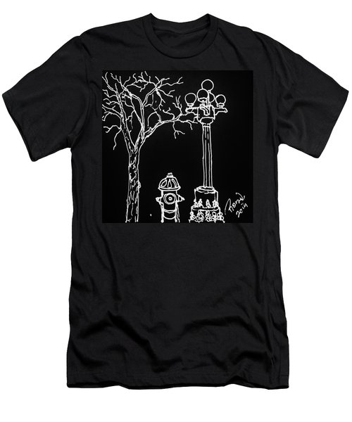 Men's T-Shirt (Slim Fit) featuring the drawing Black Book 08 by Rand Swift