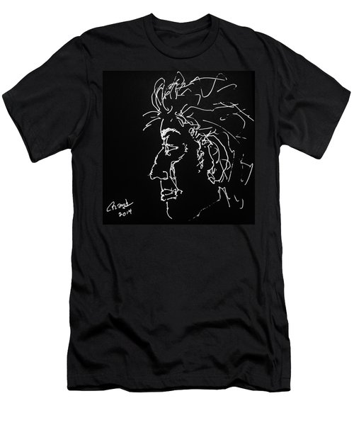 Men's T-Shirt (Slim Fit) featuring the drawing Black Book 10 by Rand Swift