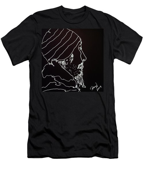 Men's T-Shirt (Slim Fit) featuring the painting Black Book Series 03 by Rand Swift