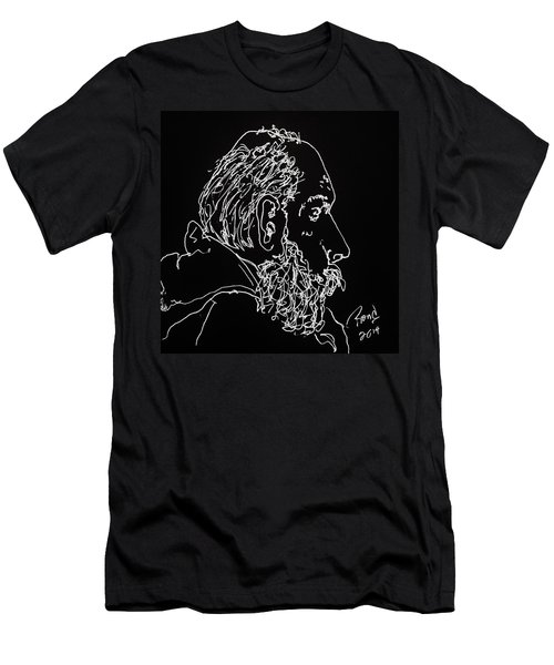 Men's T-Shirt (Slim Fit) featuring the drawing Black Book Series 05 by Rand Swift