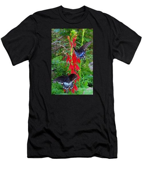 Black Butterflies Men's T-Shirt (Athletic Fit)