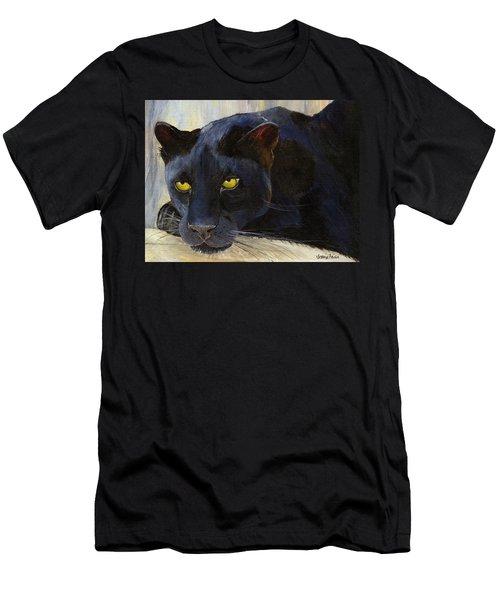 Black Cat Men's T-Shirt (Slim Fit) by Jamie Frier