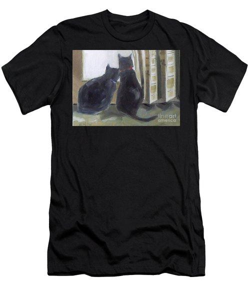 Black Cats  Men's T-Shirt (Athletic Fit)