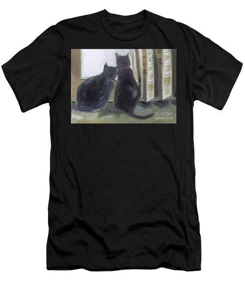 Black Cats  Men's T-Shirt (Athletic Fit)