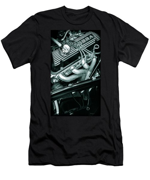 Men's T-Shirt (Slim Fit) featuring the photograph Black Cobra - Ford Cobra Engines by Steven Milner