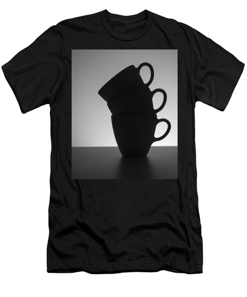 Men's T-Shirt (Slim Fit) featuring the photograph Black Coffee Cups by Steven Milner