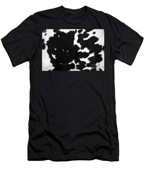 Men's T-Shirt (Slim Fit) featuring the photograph Black Cowhide by Gunter Nezhoda