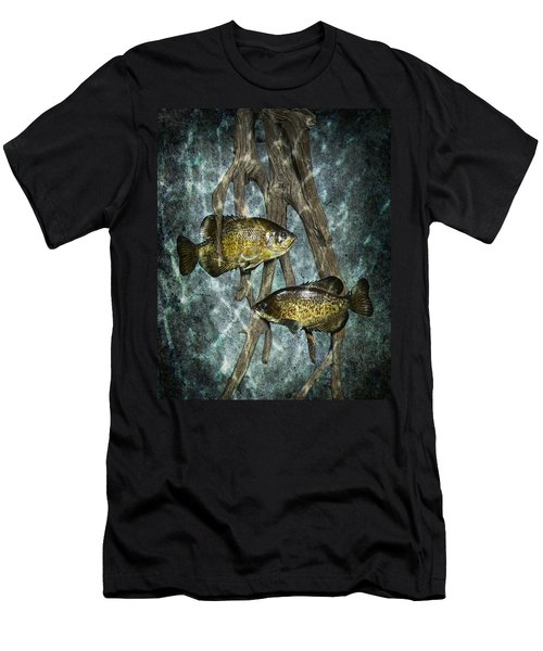 Black Crappies A Fish Image No 0143 Blue Version Men's T-Shirt (Athletic Fit)