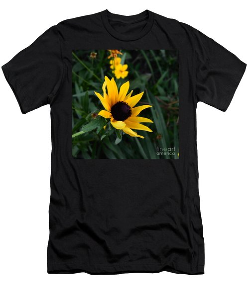 Men's T-Shirt (Slim Fit) featuring the photograph Black-eyed Susan Glows With Cheer by Luther Fine Art