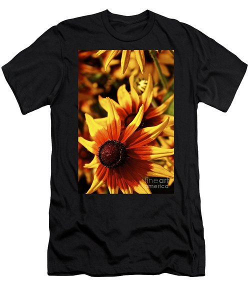 Men's T-Shirt (Slim Fit) featuring the photograph Black Eyed Susan by Linda Bianic