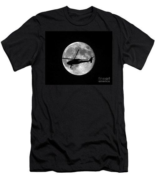 Black Hawk Moon Men's T-Shirt (Athletic Fit)