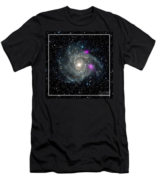 Black Holes In Spiral Galaxy Nasa Men's T-Shirt (Athletic Fit)