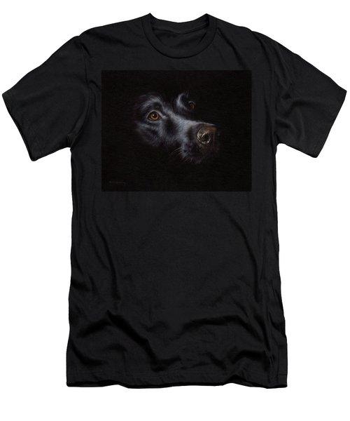 Black Labrador Painting Men's T-Shirt (Athletic Fit)