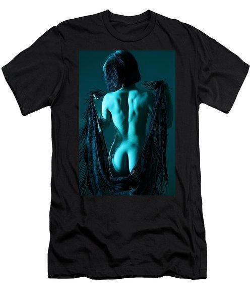 Black Lace Men's T-Shirt (Slim Fit) by Joe Kozlowski