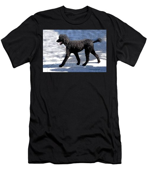 Black Poodle Men's T-Shirt (Athletic Fit)